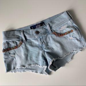 Hollister embellished Jean shorts